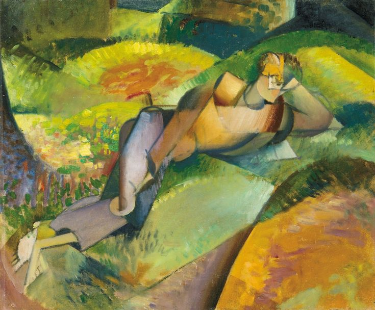 Szobotka, Imre (1890-1961) Lying figure, c. 1912-1914