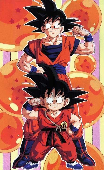 Kid Goku and Goku