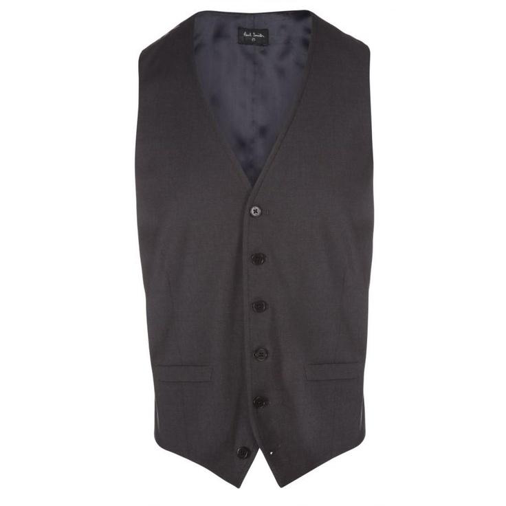 Paul Smith Waistcoats   Elephant Grey Contrast Back Waistcoat