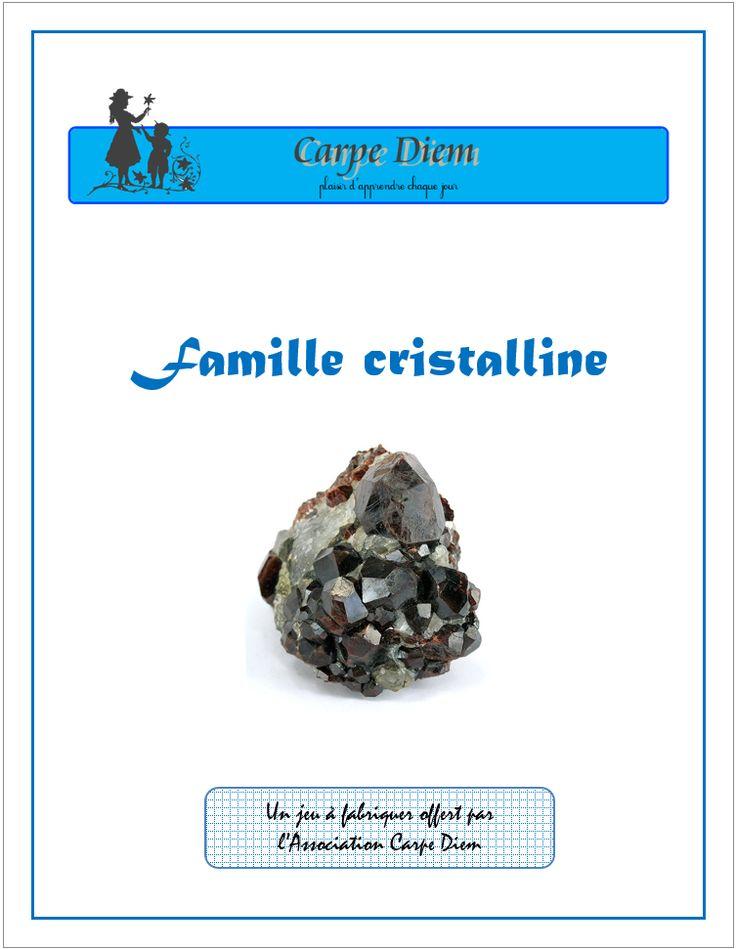 Famille cristalline - Destiné aux enfants de 6 à 11 ans, Famille cristalline permet d'en apprendre plus sur les minéraux. www.carpediem.asso.fr