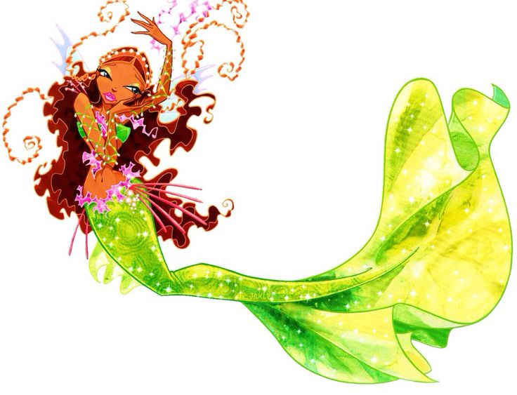 De fee van de golven als zeemeermin