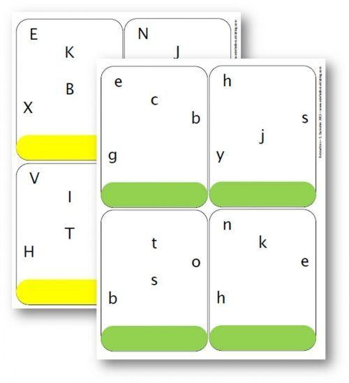 """MS, GS, CP, aide E – Apprentissage des lettres de l'alphabet – Jeu """"Batalettres"""""""