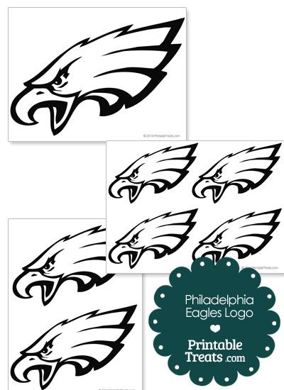 Printable Philadelphia Eagles Logo Template from PrintableTreats.com