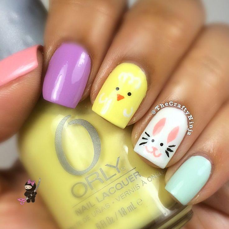 Easter by The Crafty Ninja #nail #nails #nailart This is so cute!