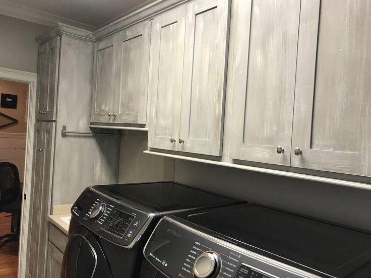 Check Out This Beautiful Laundry Room Cabinets Paint Job. Clay Used A  Combination Of Chalk Paint® By Annie Sloan Paris Grey, French Linen, And  Old White.