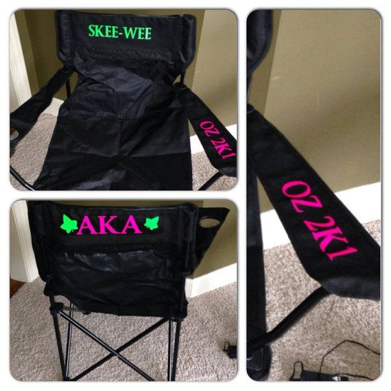 This AKA Tailgating Chair by GlitterTees on Etsy is $34.99... I could make this. ;-) #potentialproject