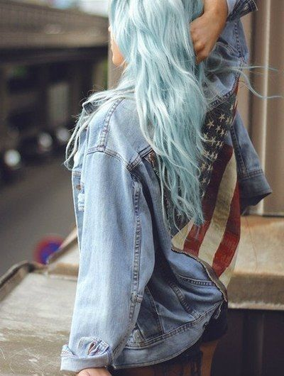 Cute Jacket / Anerican flag / pastel