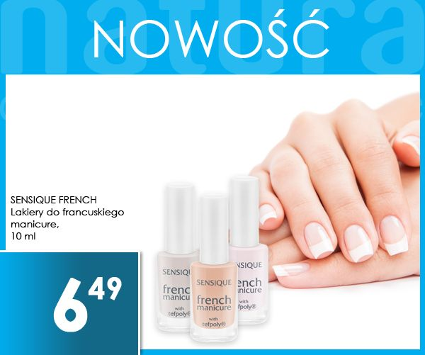 #francuski #manicure #french #sensique #drogerienatura