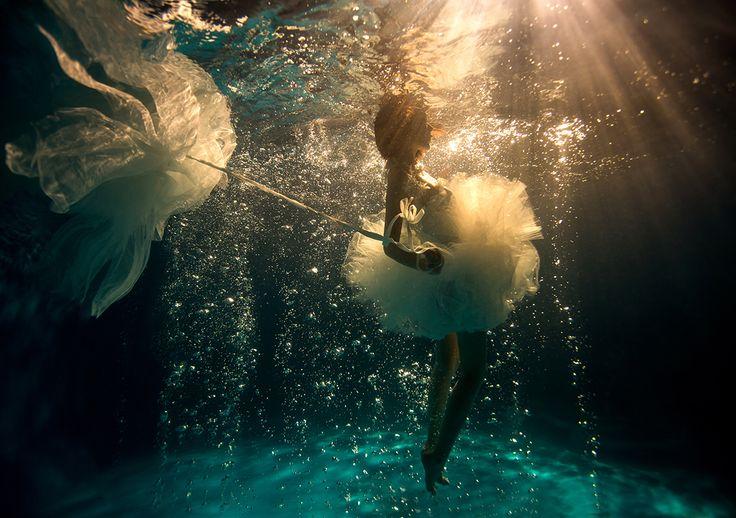 Ballerina underwater.