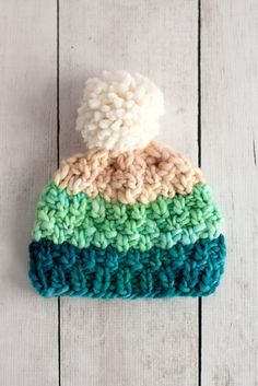 Ravelry: Simple Bulky Moss Stitch Baby Hat by Fairmount Fibers Design Team
