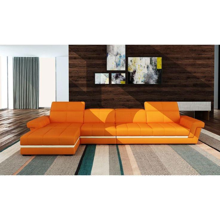 Divani Casa Diamond Modern Bonded White Leather Sectional Sofa: Best 25+ Leather Sectional Sofas Ideas On Pinterest