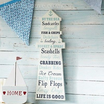 This wooden lighthouse shaped plaque will give you a list of beach rules so then you are ready for the summer. This would fit in perfectly at a beach theme party..