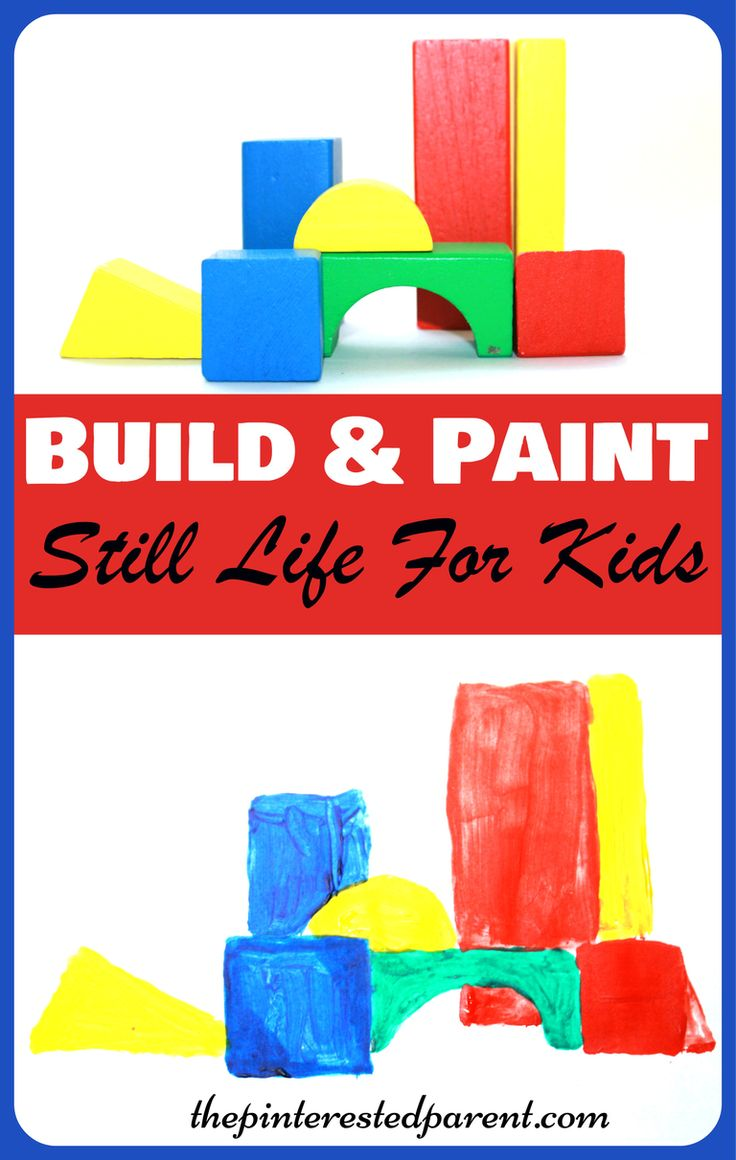 Build, Observe & Paint beginner still life art for kids - construct your own still life paintings with blocks