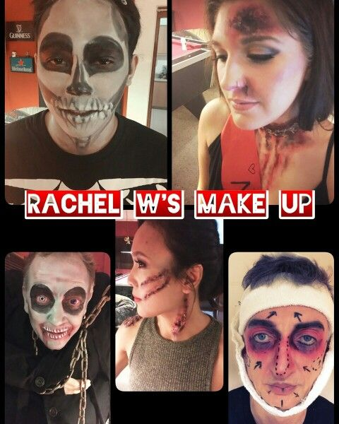 Halloween Make Up look by Rachel W's make up artist. #blackskull #walkingdead #missworld #beautyqueen #frankenstein #laracroft #slayer #plasticsurgerygonewrong #bruises # wound#gunshotswound #easy #sfx #rachelwmua #makeupartist #malaysia #worldwide