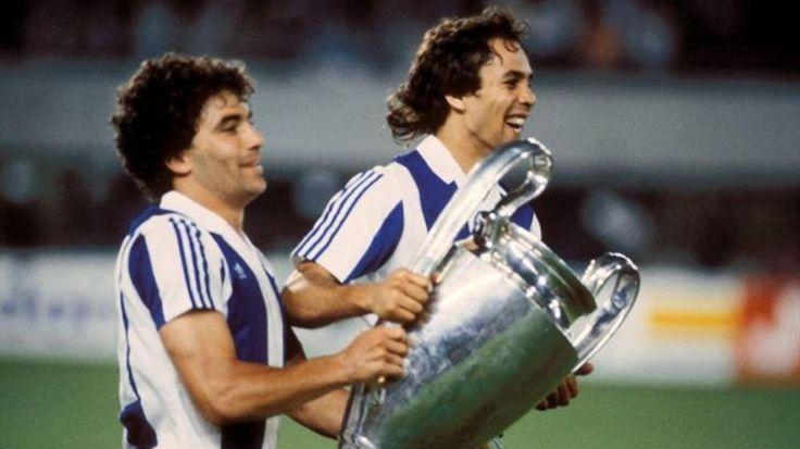 Rabah MADJER, joueur du FC Porto(1987, Vienne, finale de la Coupe des clubs champions)