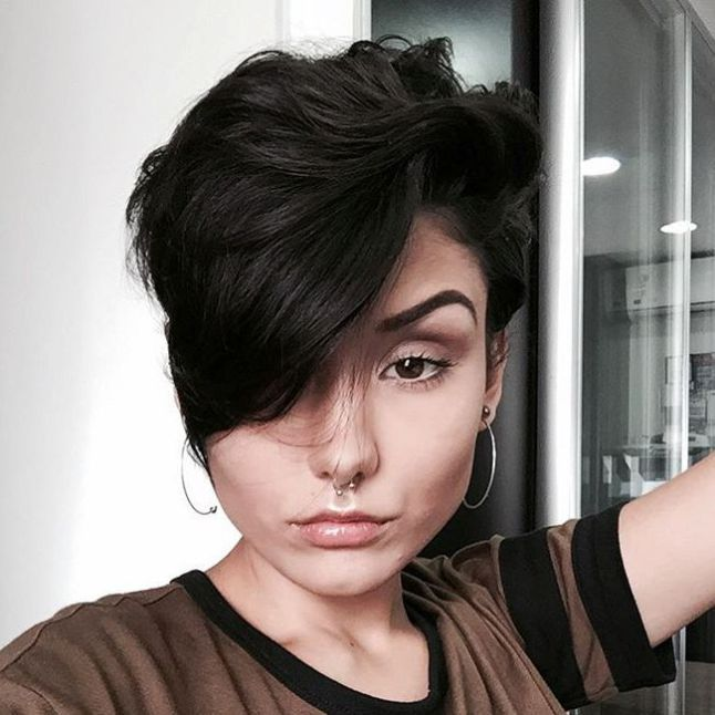 1000+ Ideas About Pixie Long Bangs On Pinterest