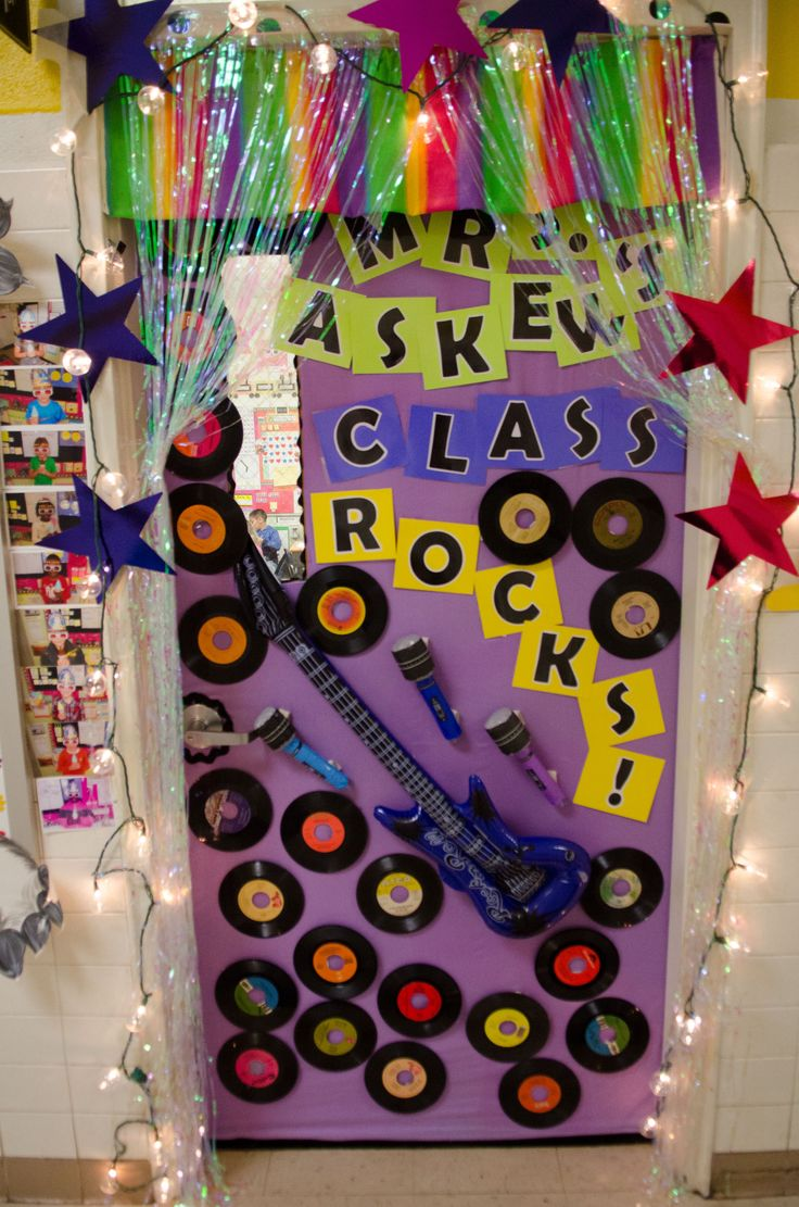 Music Classroom Door Decoration Ideas ~ Best on campus rock n town live decorations images