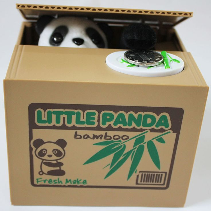Tirelire Panda Moneybox Plastic Box Electronic Itazura Piggy Bank Stealing Coin Panda For Kid Children Best Money Box Gift CXG06