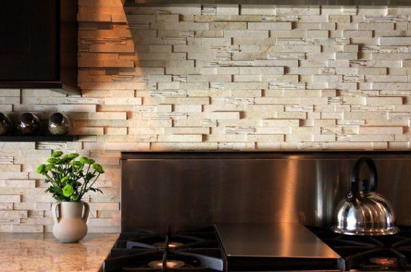 white stone wall backsplash in kitchen kitchen ideas