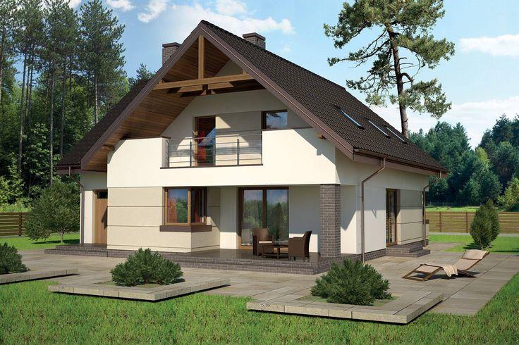 """""""Optymalny"""" Murator M133 - doskonały dom z poddaszem użytkowym dla cztero- lub pięcioosobowej rodziny"""