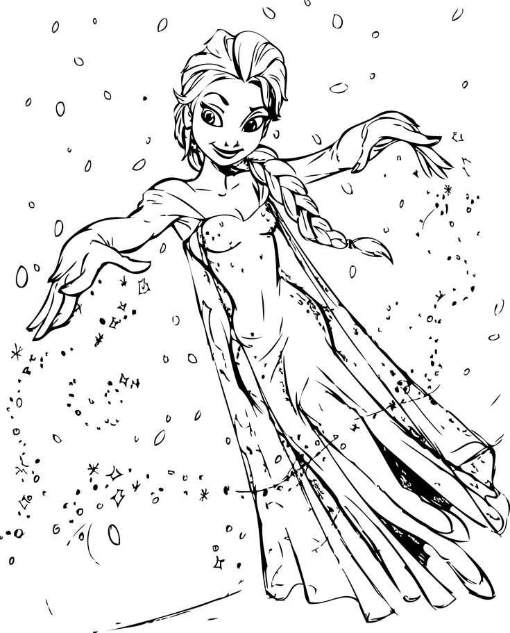 My elsa coloring page
