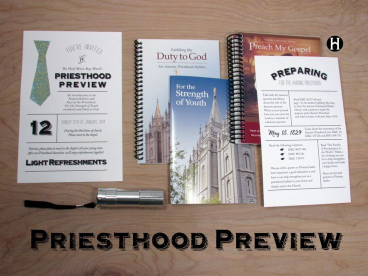Preisthood Preview & Preparing You daughter for YW