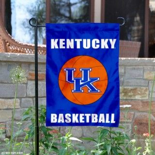 Kentucky Wildcats Basketball Garden Flag is 13x18 inches in size, made of 2-ply poly, and screen printed UK Wildcats logos and insignias. Our Kentucky...