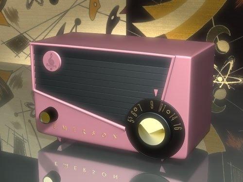 Emerson vintage pink radio.