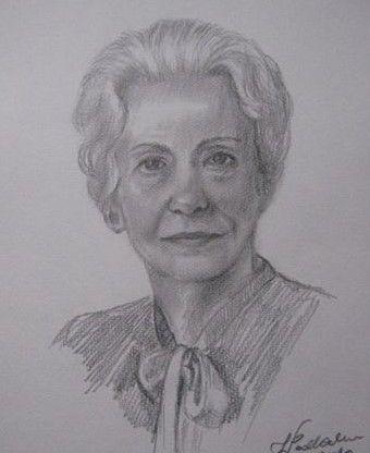 Portret nieznajomej kobiety. Szkic ołówkiem. Ćwiczenia