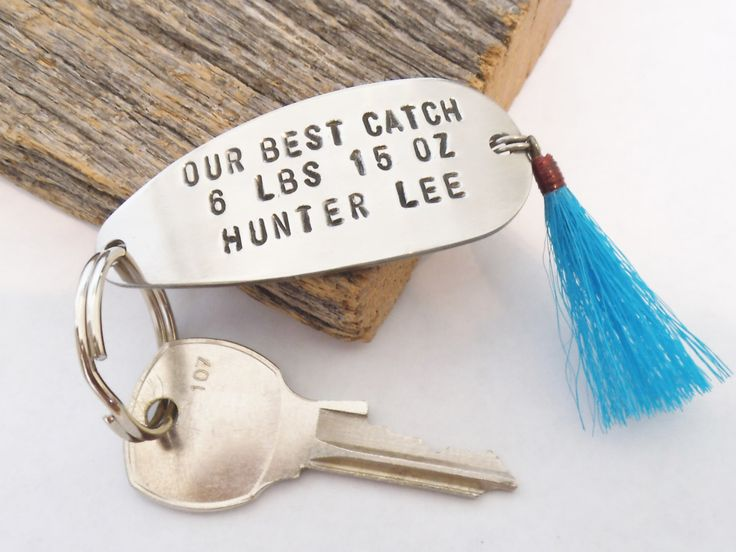 Father's Day Gift from Son New Parent Gift Dad Keychain Fathers Day Dad to Be Gift from Wife Christmas Gift Dad Fishing Lure Keyring Husband by CandTCustomLures on Etsy https://www.etsy.com/listing/233216649/fathers-day-gift-from-son-new-parent
