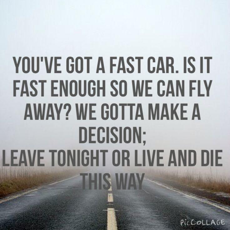 """Fast Car"" Tracey Chapman Lyrics"