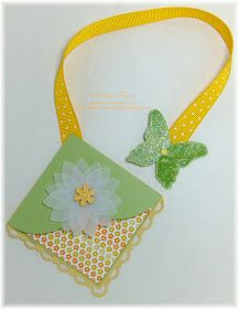 Discover Stamping: ~Corner Bookmark~ with ribbon string