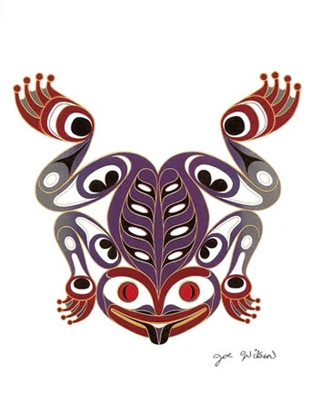 JOE WILSON Coast Salish ART CARD Design THE FROG                                                                                                                                                     More