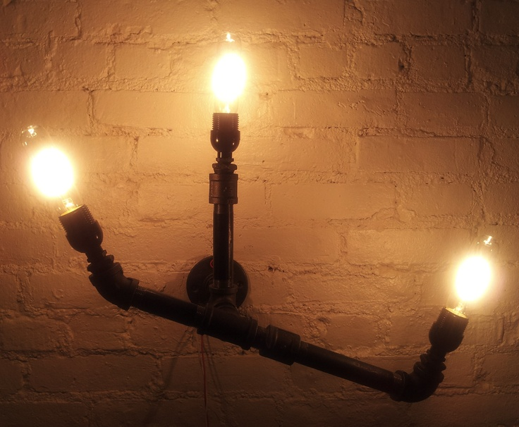 Model no 4 gas pipes light fixture 285 industrial for Gas pipe lamp