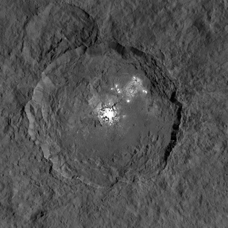 Descubren cambios inesperados en puntos brillantes del planeta Ceres
