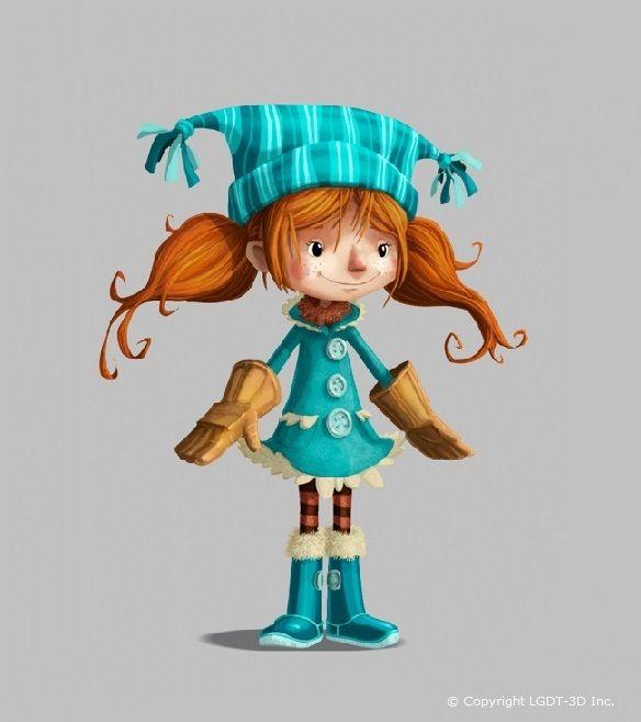 Dessin en couleur de Lucie de La Guerre des Tuques 3D