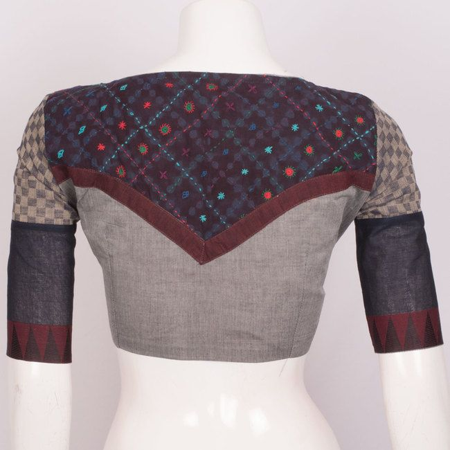 Hand Crafted Cotton Blouse With Lining & Long Sleeve 10015302 - size 38