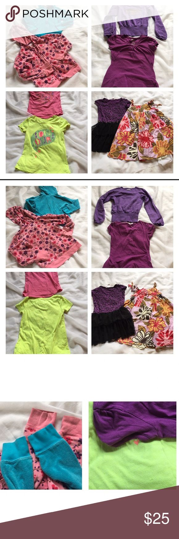 Girls tops lot, 6/6X (8 pieces) Girls tops bundle - size 6/6X. Includes: dolce and gabanna jr sweatshirt, flowers by Zoe and Oshkosh hoodies, 2 Gap and 1 old navy tee shirts, sweet heart rose and xhilaration dresses. Few small blemishes shown in pictures. 🦊 I do not trade or model. Please use measurements provided and ask any questions prior to purchasing. My goal is always 5 star customers. Thanks! 😊 Shirts & Tops
