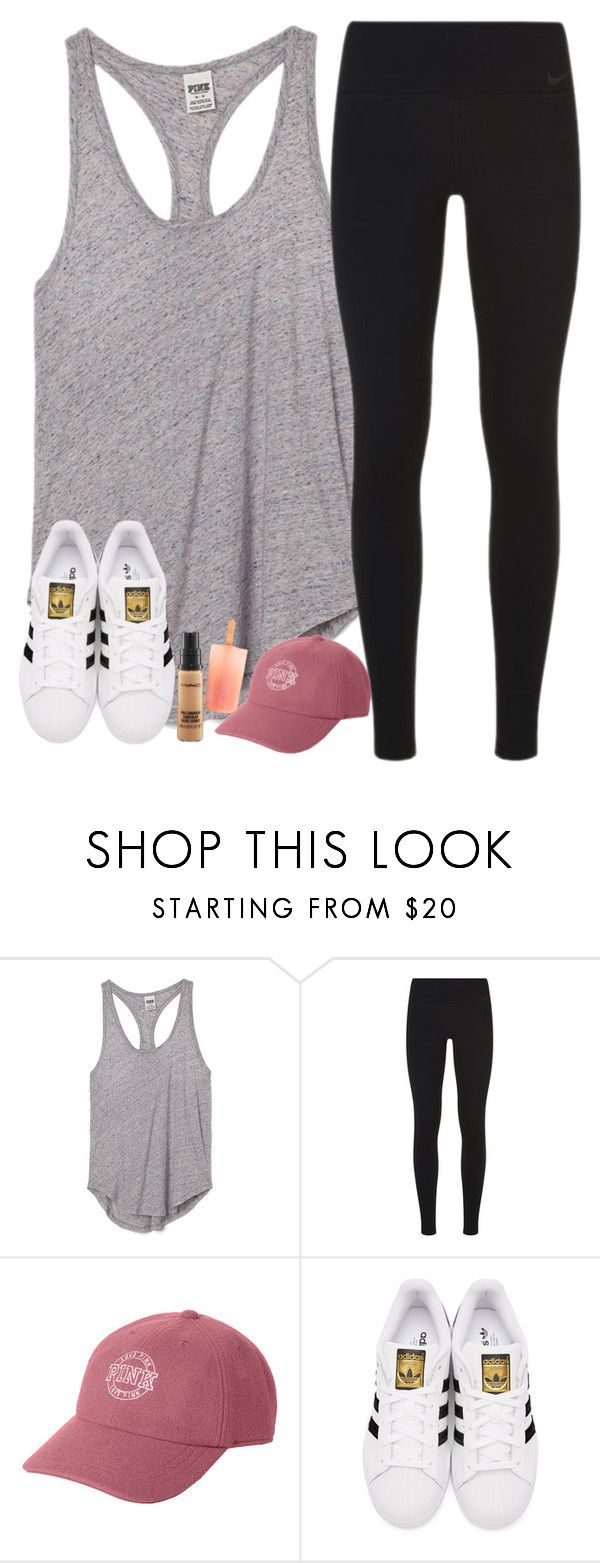 """⏳"" by southernstruttin ❤ liked on Polyvore featuring Victoria's Secret PINK, NIKE, Victoria's Secret, adidas Originals and MAC Cosmetics"