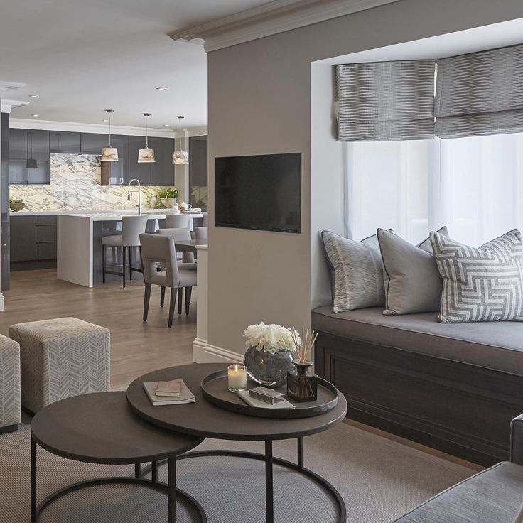 Another look at the open plan kitchen and living room from sophiepatersoninteriors