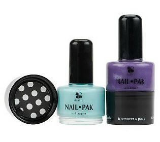 Set of 2 Nail Pak All n 1 Polish Remover & File by Lori Greiner. I WANT THIS!