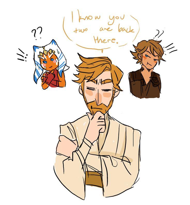 Ahsoka, Anakin, Obi-Wan