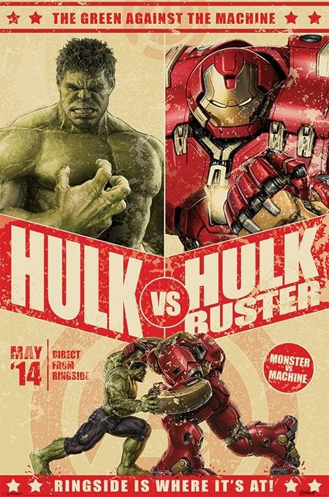 The Avengers: Age Of Ultron - Hulk Vs Hulkbuster Poster | Sold at Europosters