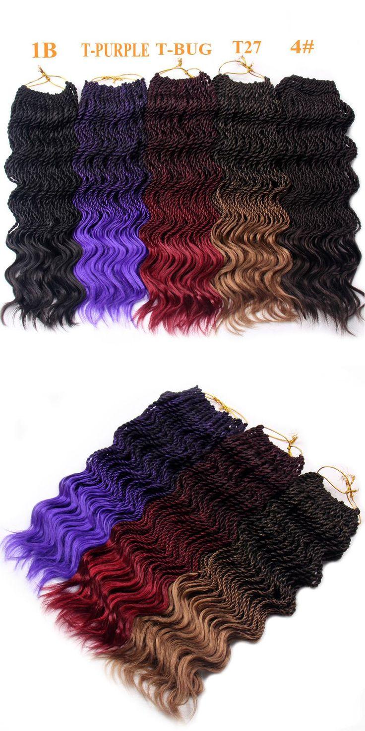 FALEMEI 14Inch 75g 35Strands/Pack Crochet Braid Hair Kanekalon Synthetic Hair Curly Senegalese Twist Crochet Hair extensions