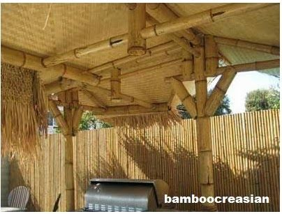 how to build bamboo fence with dollorama stalks