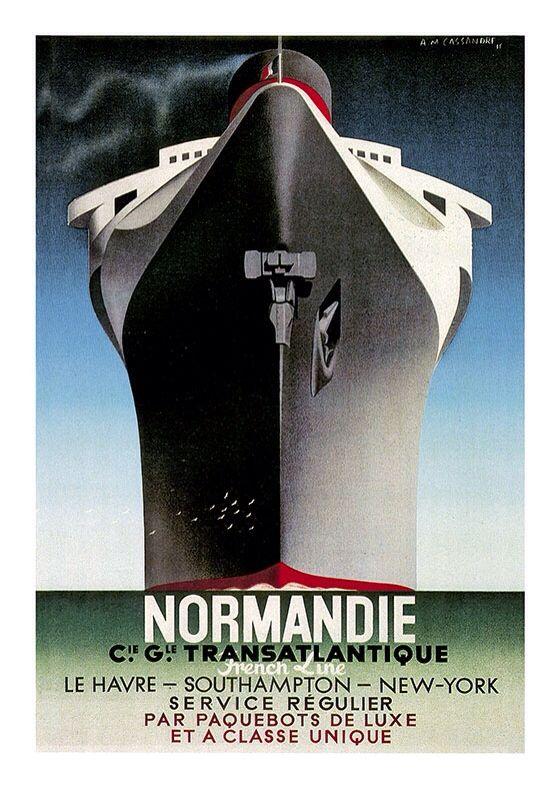 Normandie Vintage Poster, available at 45x32cm. This poster is printed on matt coated 350 gram paper.