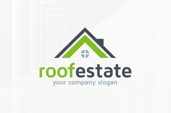 Roof Estate Logo Templates by LiveAtTheBBQ on Creative Market