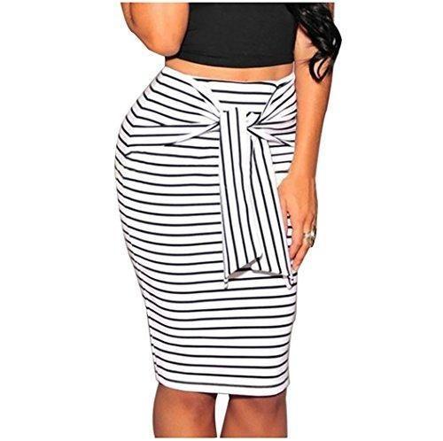 Oferta: 6.74€. Comprar Ofertas de Faldas de Tubo de Rayas Midi Falda Estrecho Lapiz Cortas Vestidos de Fiesta M Blanco barato. ¡Mira las ofertas!