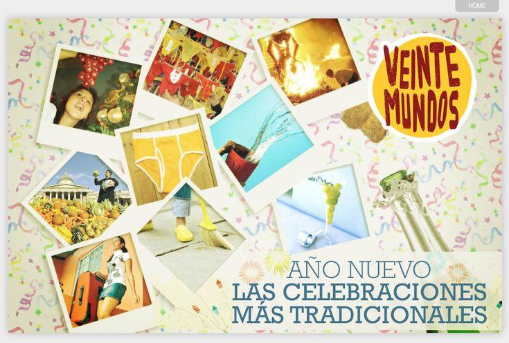 """VeinteMundos Magazines """"El año nuevo: Las celebraciones más tradicionales"""" (Cómo se celebra el año nuevo en muchas partes del mundo hispanohablante)"""