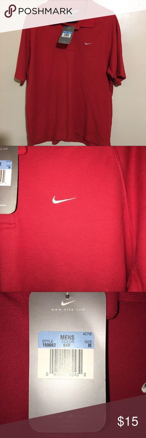 Nike polo shirt NWT sz Med Nike polo red Nike Shirts Polos